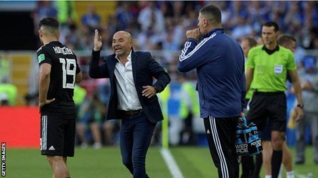 Argentina 'mutually agree' to terminate Sampaoli's contract