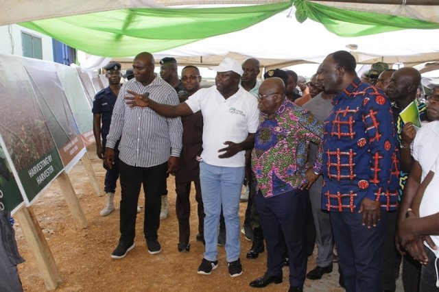 President Addo Dankwa Akufo-Addo at the Potato Processing Factory