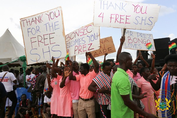 Akufo-Addo quotes scripture to back Free SHS
