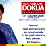 Nana Ama Dokua Supports Coronavirus Fight in Akropong