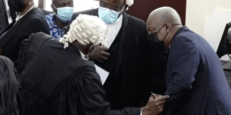 Mahama in court