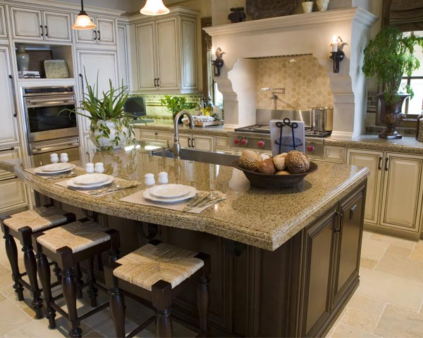 Beautiful Golden Dust Giallo Napoli Granite Countertop