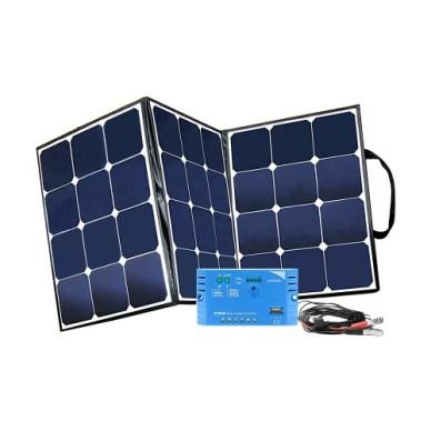 Mobiles 12V-Solar-Faltmodul mit Laderegler und Batteriekabel