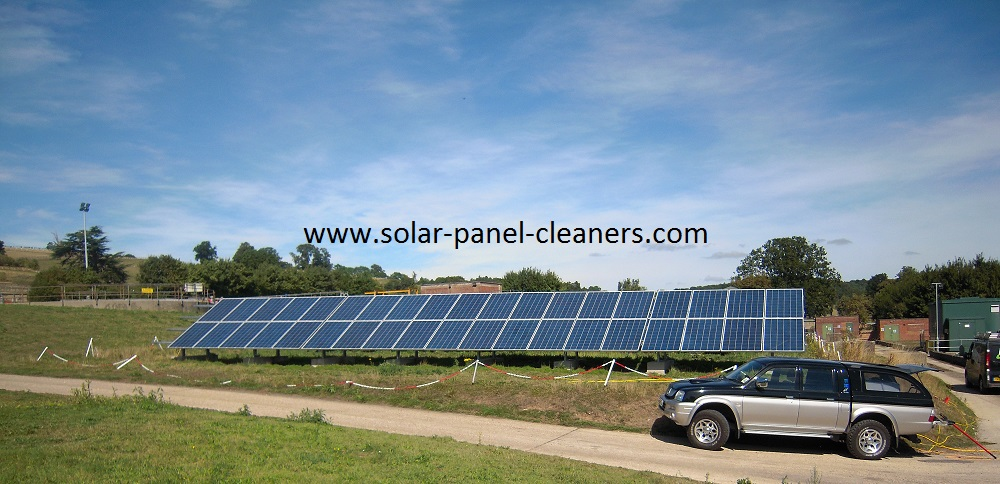 Solar Panels Cleaned On 6 Oxfordshire Solar Farms For Anesco