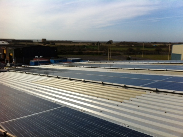 Commercial Solar Panel Cleaning Completed On Hythe Roof