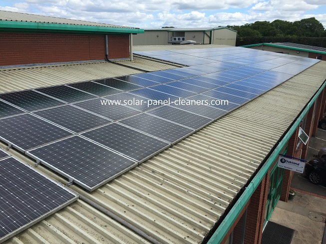 Solar Panel Cleaning Completed On Redditch Storage Facility