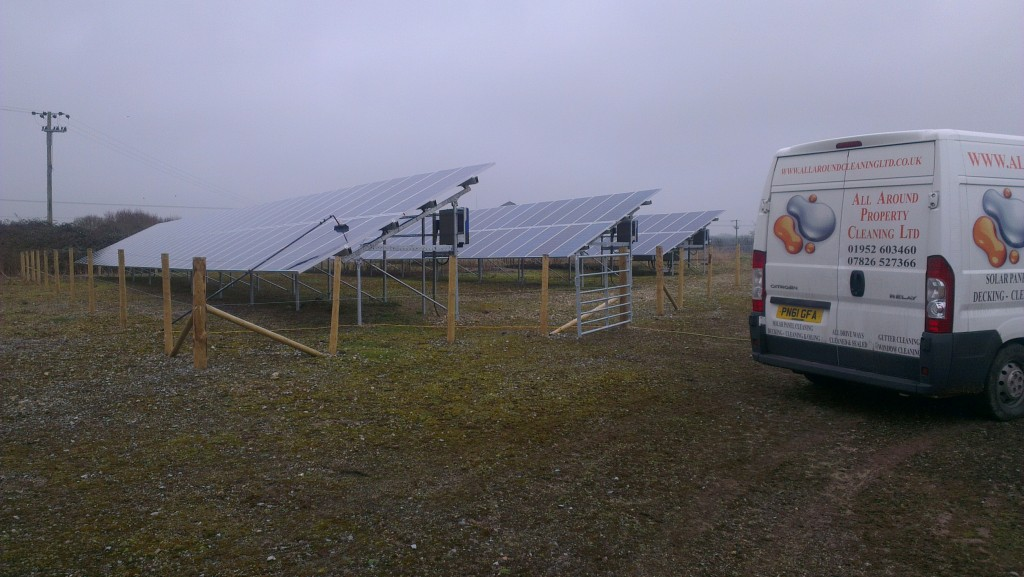 Solar Panel Cleaning Completed On A Solar Farm In Faringdon, Oxfordshire