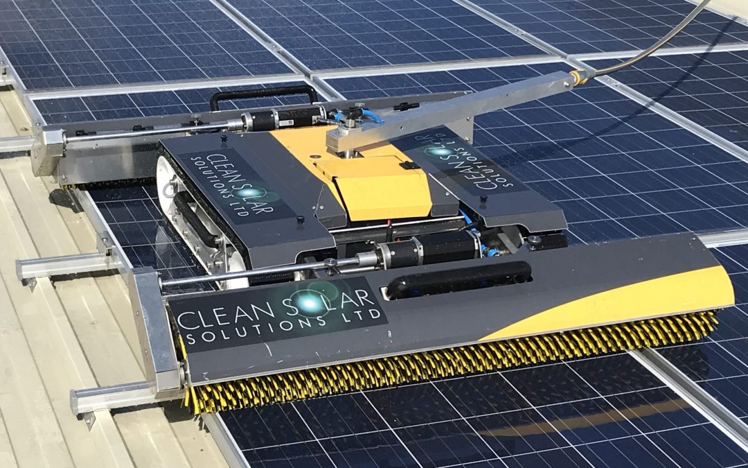 UK FIRST:  Rooftop Robotic Solar Panel Cleaning Launched