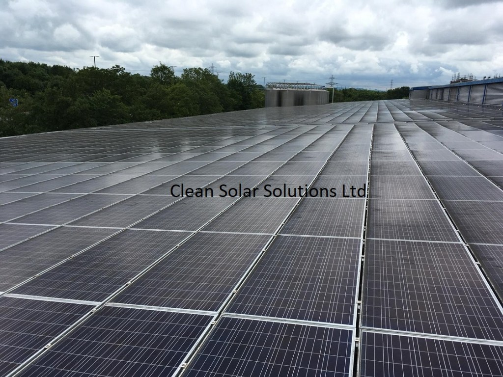 Solar panels that need cleaning in Bristol