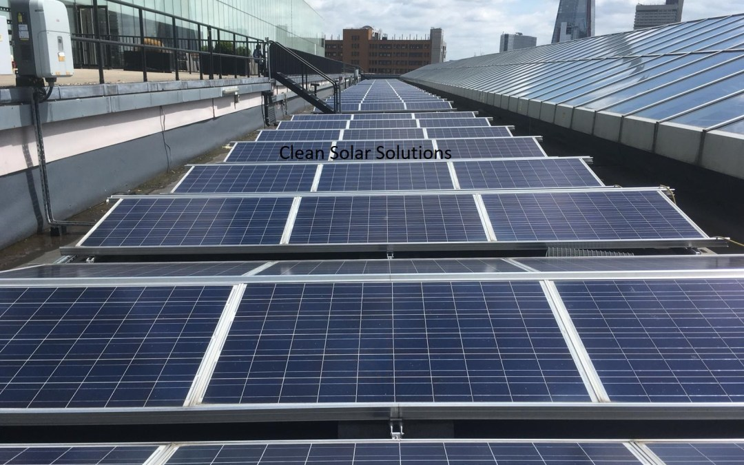 The Art Of Solar Panel Cleaning Seen In Southwark, London