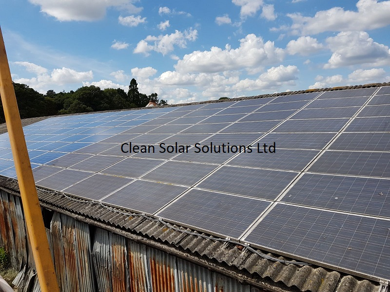 Solar Panels Cleaned On Totton Beef & Pork Farm