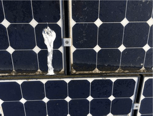 Dirty solar panels in Twickenham