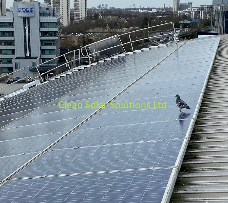 Solar Panel Cleaning Completed On Chiswick Storage Block