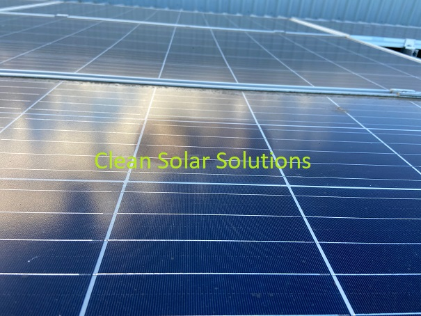 Clean roof mounted solar panels