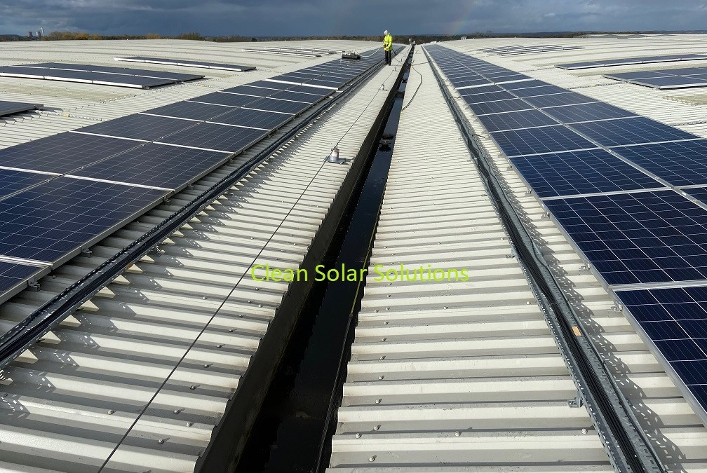 Solar Panel Cleaning Lichfield's Largest Rooftop Solar Array