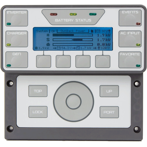 Outback Power MATE3s System Display and Controller
