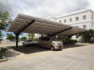 Solar carport in St. Michael, Barbados