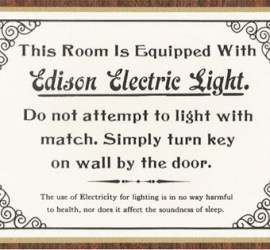 Edison electric light sign