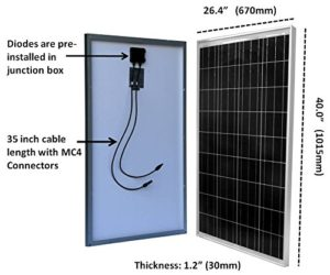 windynation 100watt solar panel