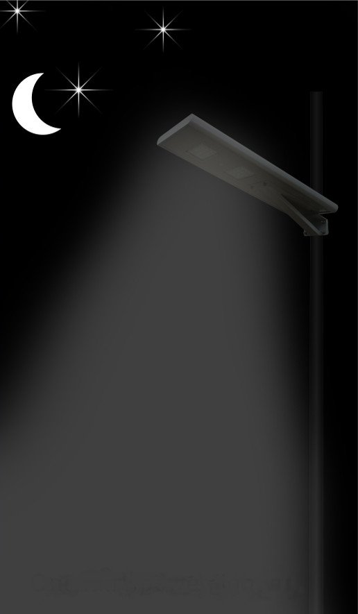 Allinone Function 2 - All in one solar street light