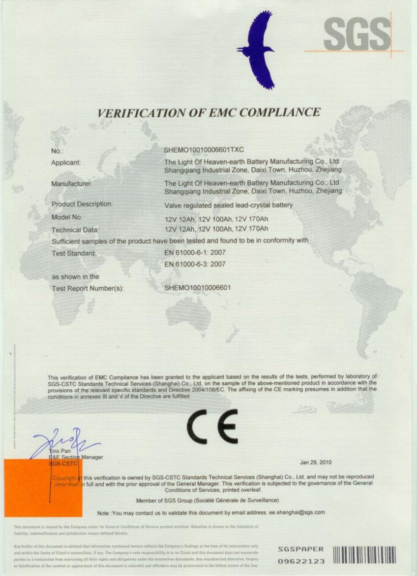 01 CEbattery - Certificados Sistemas de Iluminación Solar SunMaster