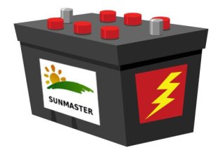BatterySunmaster-300x220 Solar powered security camera