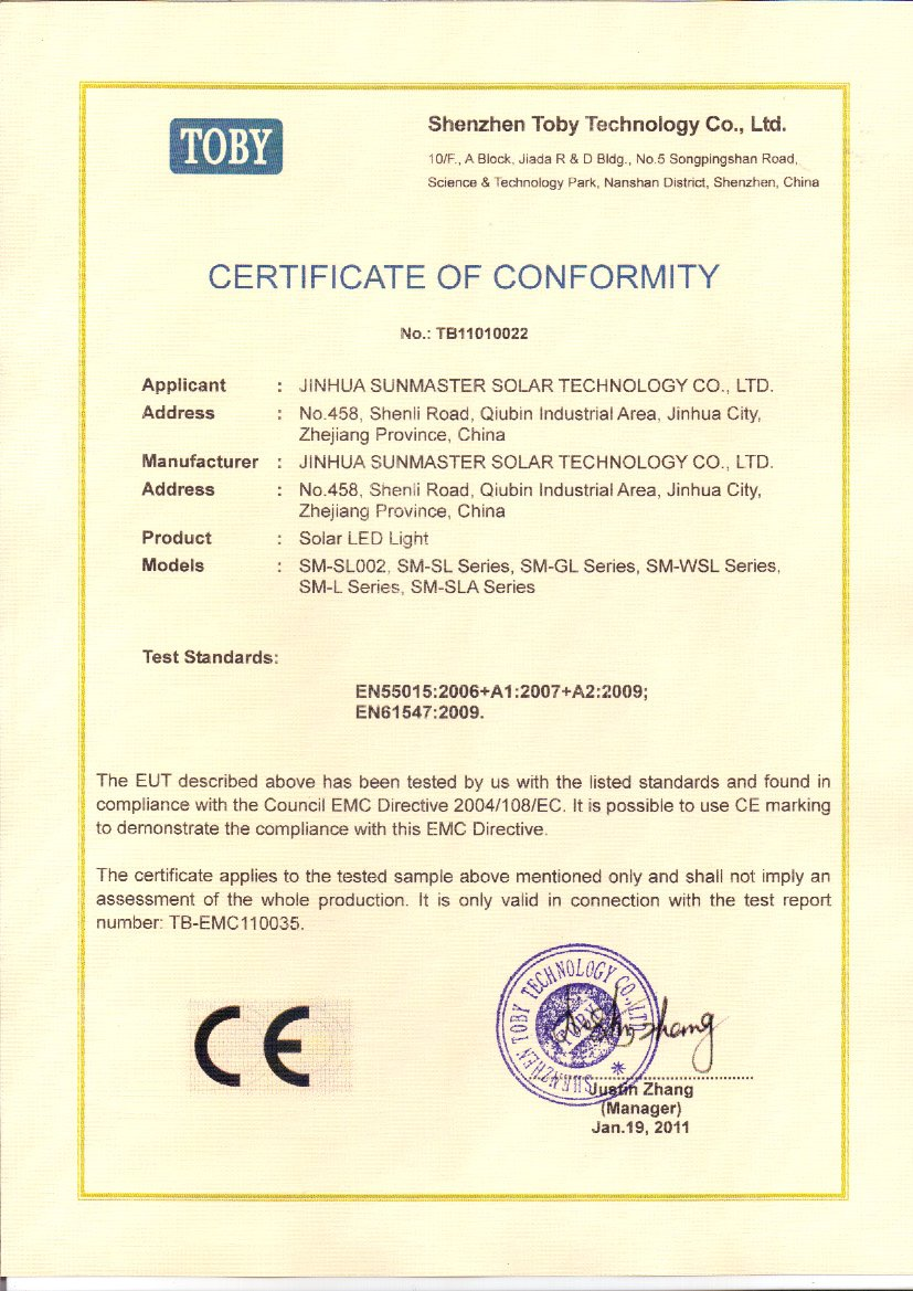 CE-__solar__light Solar lights certificates