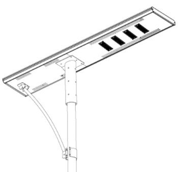 110W - All in one solar street light