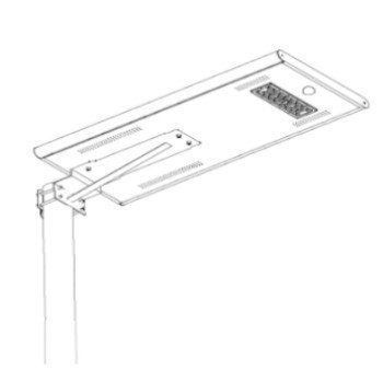 20W - All in one solar street light