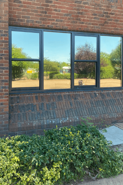 Solar Control film applied to an office