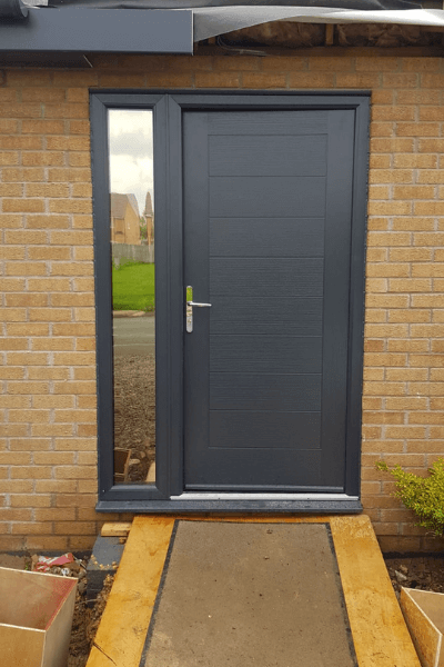 Privacy window film on a residential front door