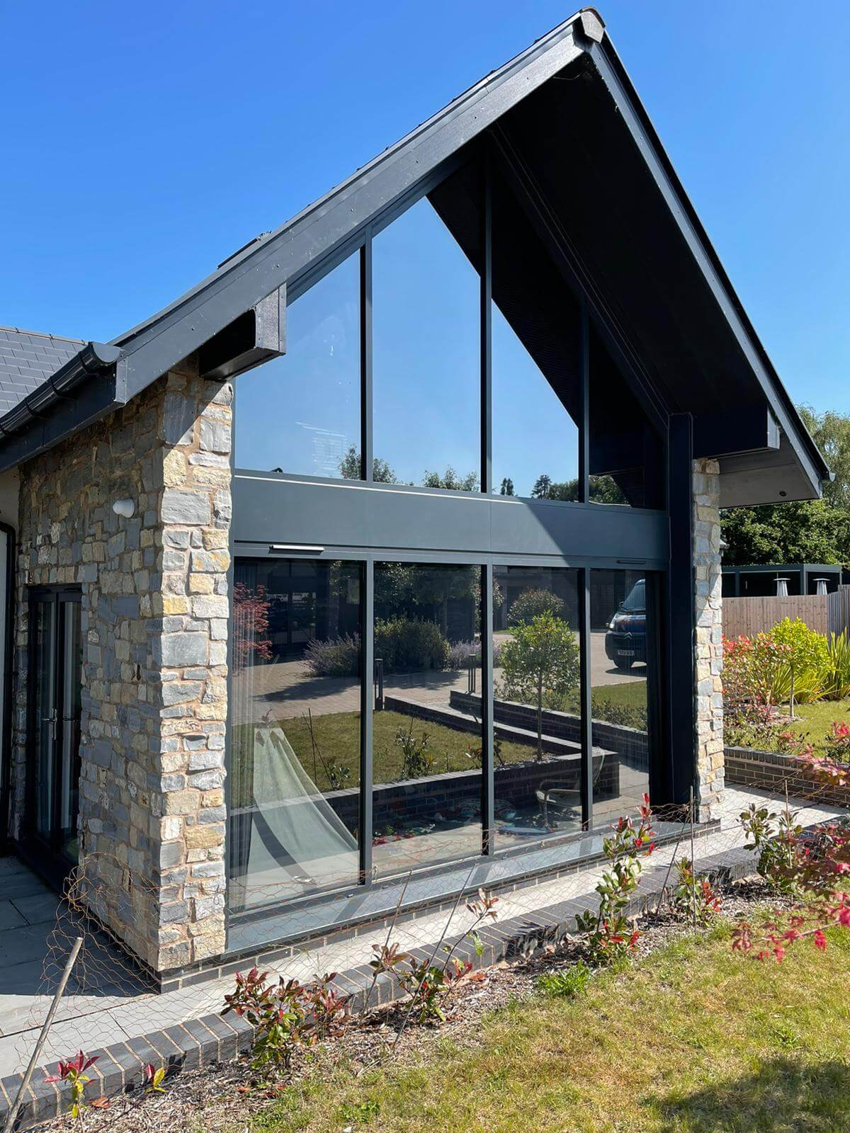 Glare Reduction Window Film on a Home