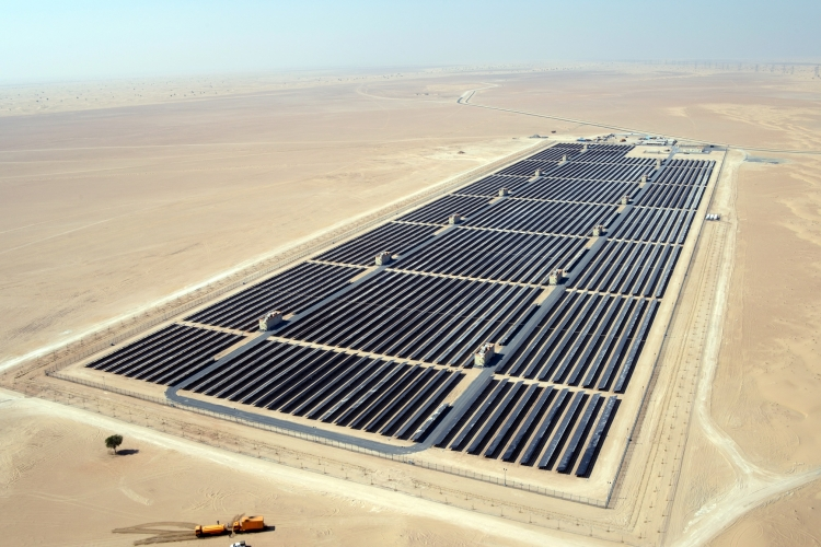 Phase 1 of the Mohammed bin Rashid Al Maktoum Solar Park. Source: First Solar