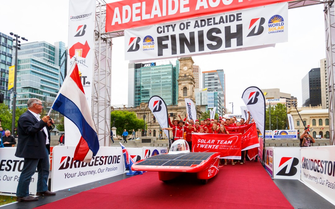 Solar Team Twente fifth to cross the finish line