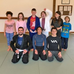 Youth BJJ group pic at Solarte