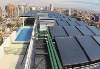 Colectores Solares en edificio