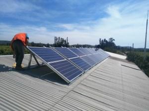 instalación sistema solar on grid