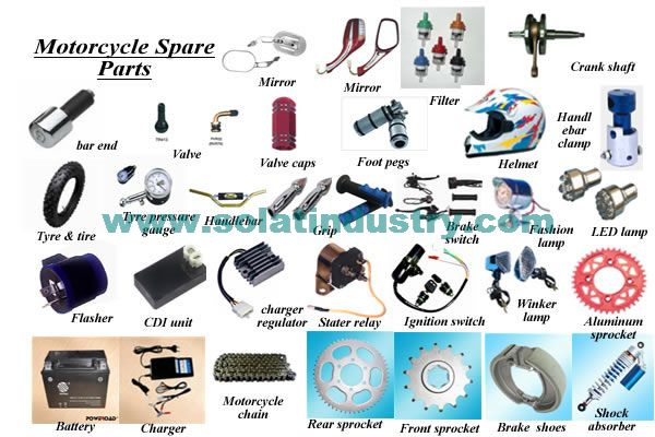 Motorcycle Engine Parts Name List