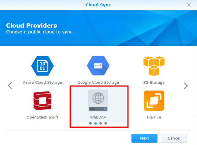 STACK-cloud-sync-instellen-kies-provider