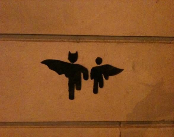 Batman et Robin street art