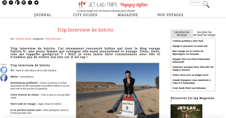 interview Solcito Jet Lag Trips