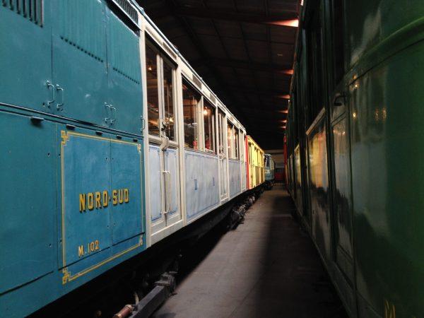 Anciennes rames de métro RATP