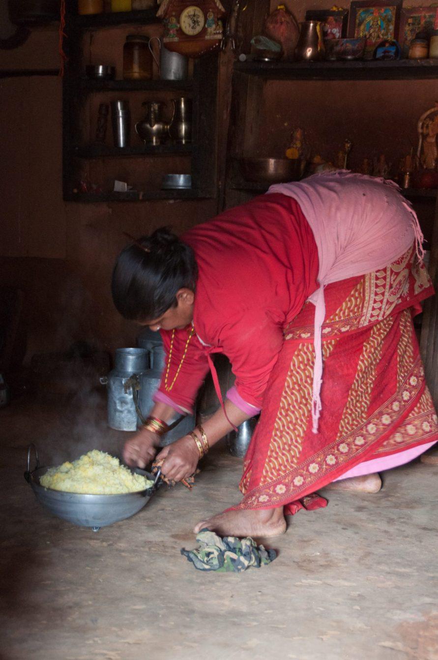 Village Dal Bhat volontariat Katmandou