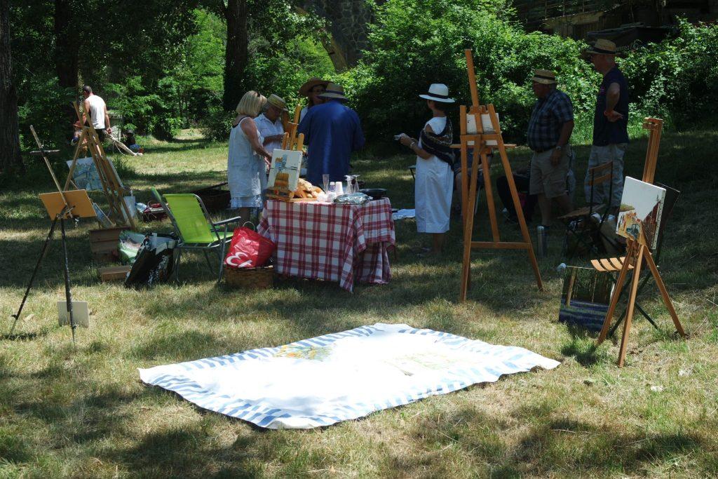 Activités insolites Ardèche pique nique impressionnistes