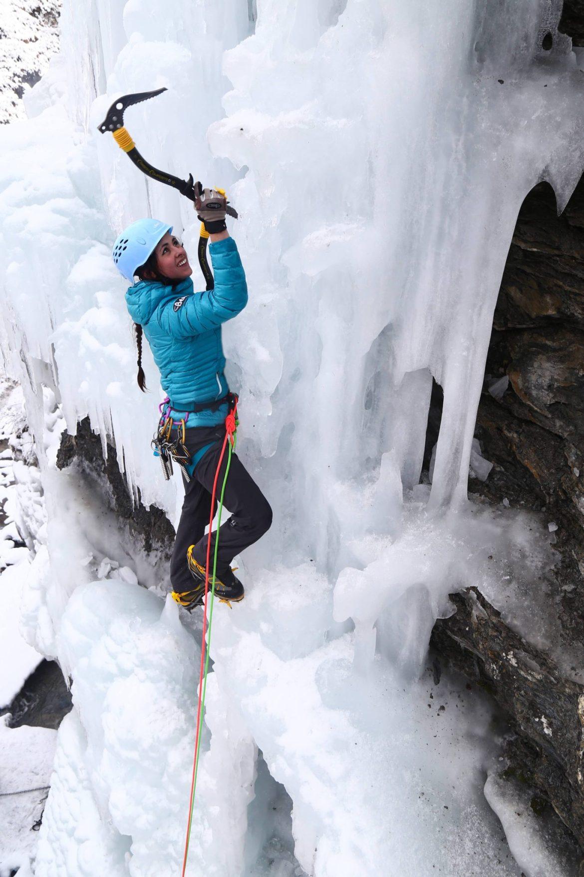 Ice climbing Puy Saint-Vincent