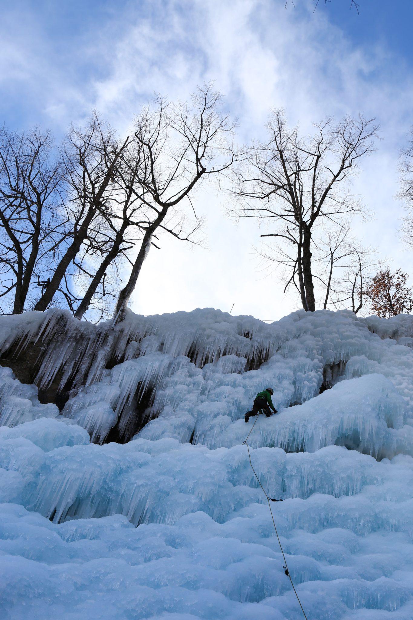 Escalade sur glace Pays des Ecrins