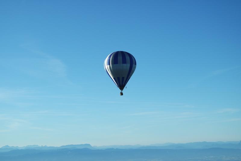 Vue montgolfière Ardèche