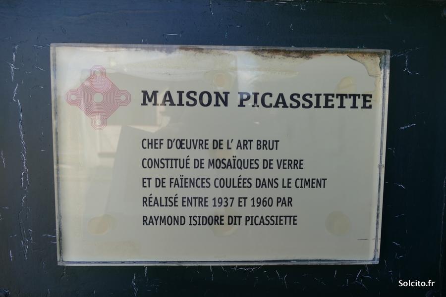 Plaque maison Picassiette