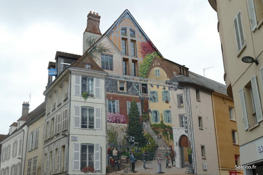 Mur peint à Chartres