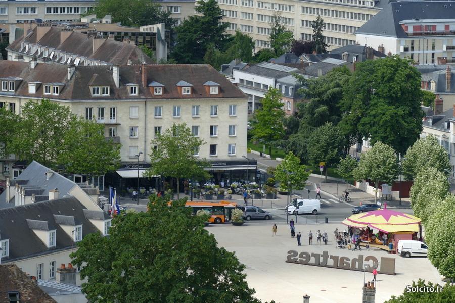 Vue sur la ville de Chartres